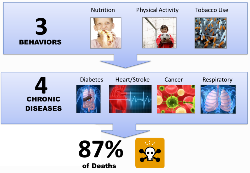 3 Behaviors-4 Chronic Diseases